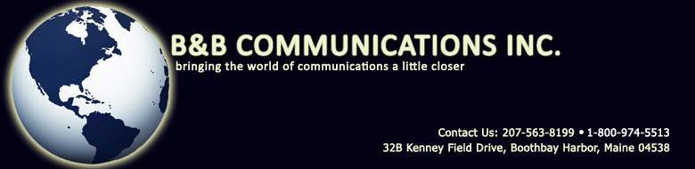 B & B Communications Logo and Address